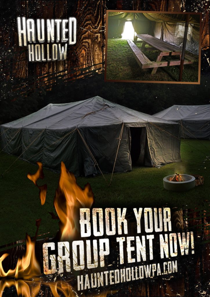 Book your group tent now!